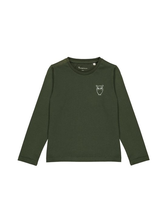 Knowledge Cotton Apparel - Flax Owl Long Sleeve Tee -paita - 1090 FORREST NIGHT | Stockmann - photo 1