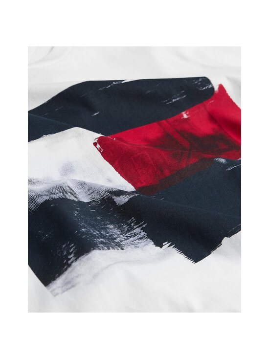Tommy Hilfiger - Flag Paint Tee -paita - YBR WHITE | Stockmann - photo 3