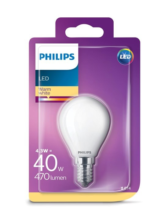 Philips - LED Classic 4,3W(40W) P45 E14 -mainoslamppu - WHITE | Stockmann - photo 2