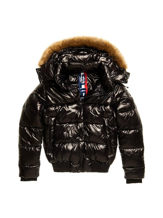 Superdry - HIGH SHINE TOYA BOMBER Superdry 02A Black 8 - 02A BLACK | Stockmann - photo 1