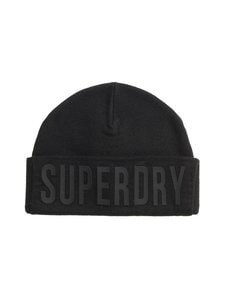Superdry - Surplus Silicone Logo Beanie -pipo - 3WI SURPLUS BLACK | Stockmann