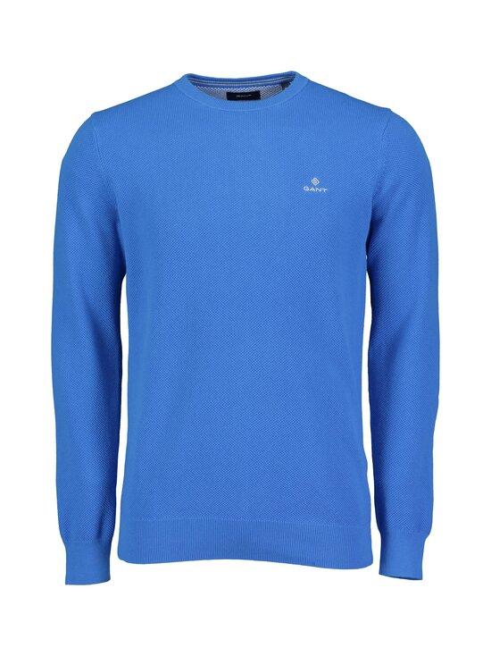 GANT - Cotton Pique C-Neck -puuvillaneule - 416 CLEAR BLUE | Stockmann - photo 1