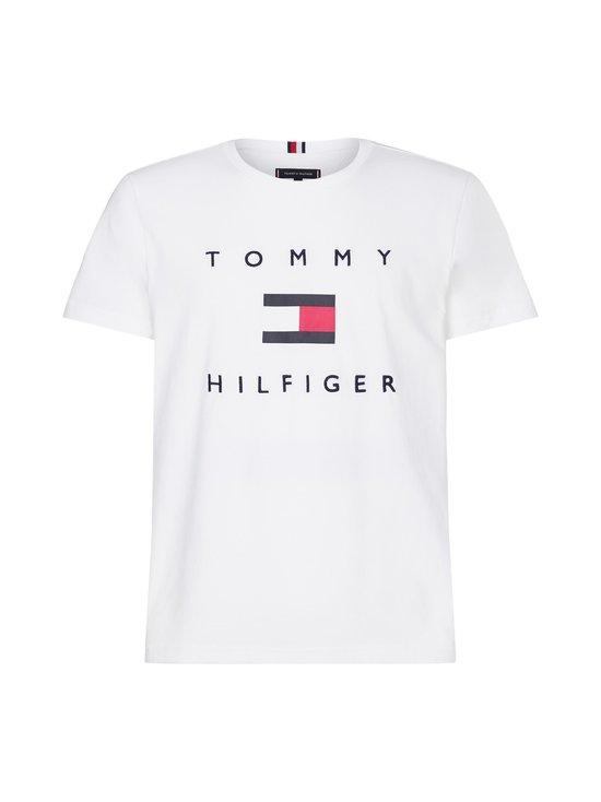 Tommy Hilfiger - Organic Cotton Flag T-Shirt -paita - YBR WHITE   Stockmann - photo 1