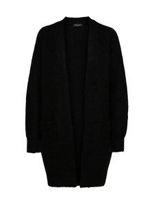Selected - SlfLulu LS Knit Long Cardigan -villasekoiteneuletakki - C-N10 BLACK | Stockmann