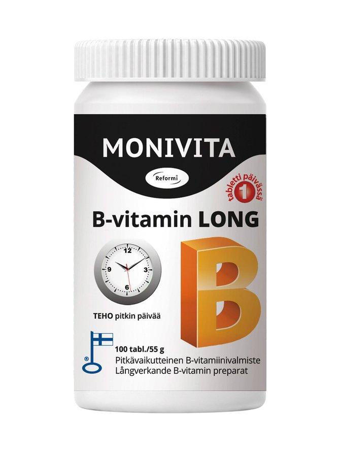 Monivita B-vitamin Long -ravintolisä 100 kpl/54,9 g
