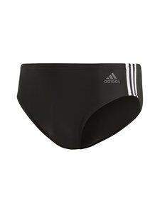 adidas Performance - Fit Training 3-Stripes -uimahousut - BLACK/WHITE | Stockmann