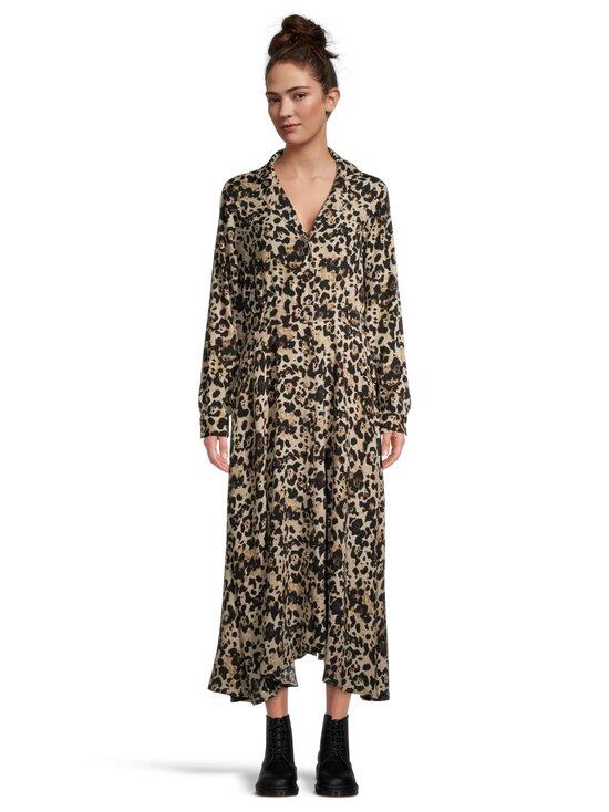 Vila - ViMemis LS Midi Shirt Dress -paitamekko - BLACK AOP:LEO | Stockmann - photo 2