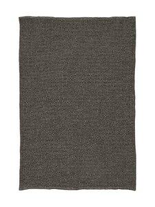 Casa Stockmann - Dock-pellava-puuvillapyyhe 45 x 65 cm - BLACK/LT.LINEN CL922T | Stockmann