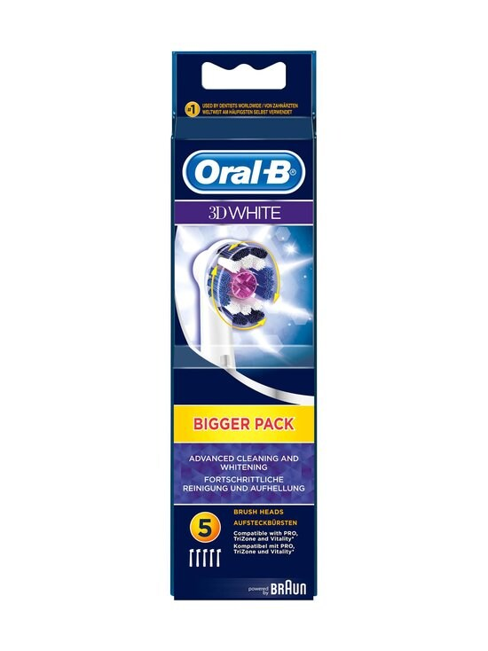 Oral-B - 3D White -harjaspäät 5 kpl - VALKOINEN | Stockmann - photo 1