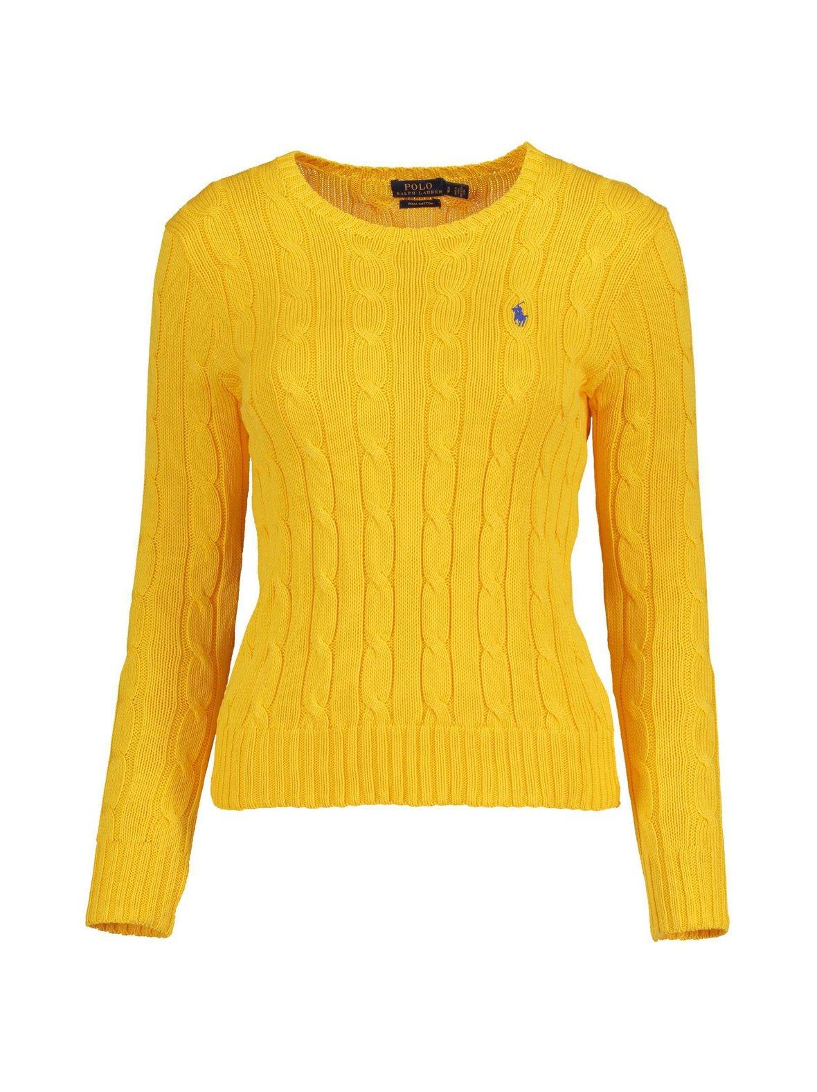 Gold (keltainen) Polo Ralph Lauren Cotton Classic Cable -neule ... ff0163c389