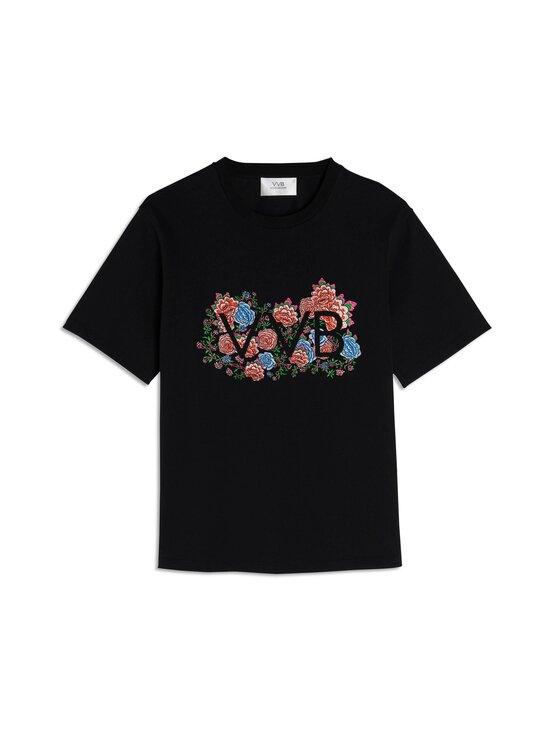 Victoria Victoria  Beckham - Floral Logo -paita - BLACK | Stockmann - photo 1