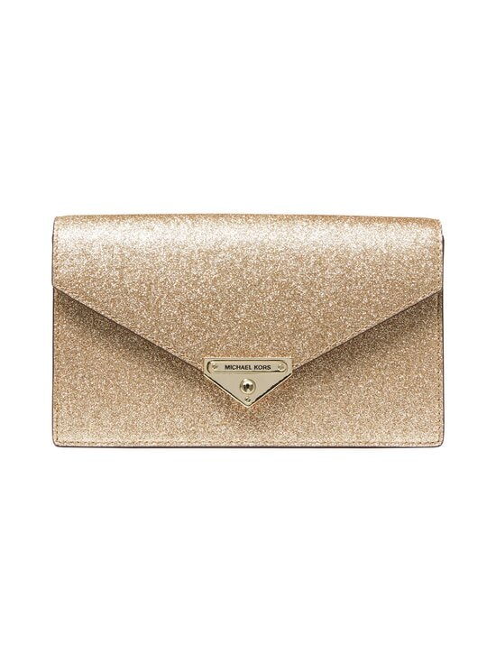 Michael Michael Kors - Grace Medium Glittered Leather Envelope Clutch -laukku - 740 PALE GOLD | Stockmann - photo 1