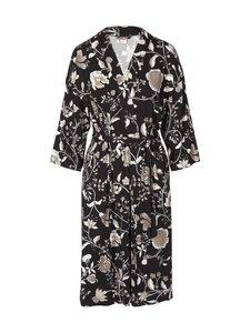 NOOM loungewear - Anna Printed Kimono -aamutakki - GREY FLOWER PRINT | Stockmann