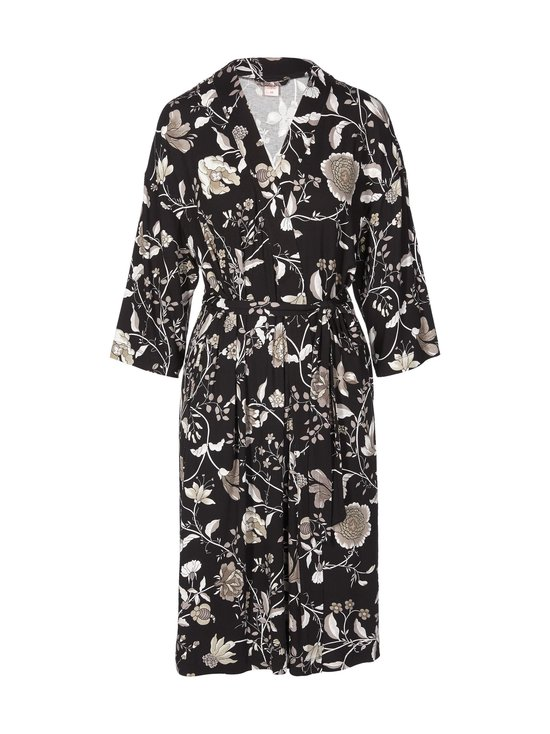 NOOM loungewear - Anna Printed Kimono -aamutakki - GREY FLOWER PRINT | Stockmann - photo 1