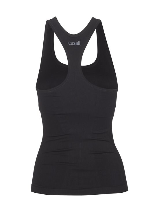 Casall - Essential Seamless Support Racerback -toppi - 901 BLACK | Stockmann - photo 2