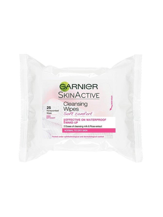 Skin Naturals Cleansing Wipes Soft Comfort -puhdistusliina normaalille ja kuivalle iholle 25 kpl
