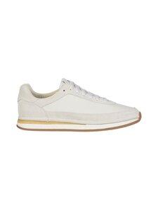 Clarks - Craft Run Lace -nahkasneakerit - WHITE   Stockmann