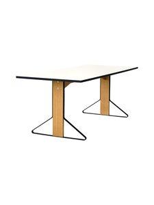 Artek - REB001 Kaari-pöytä, HPL - GLOSSY WHITE/NATURAL OAK (VALKOINEN/TAMMI) | Stockmann