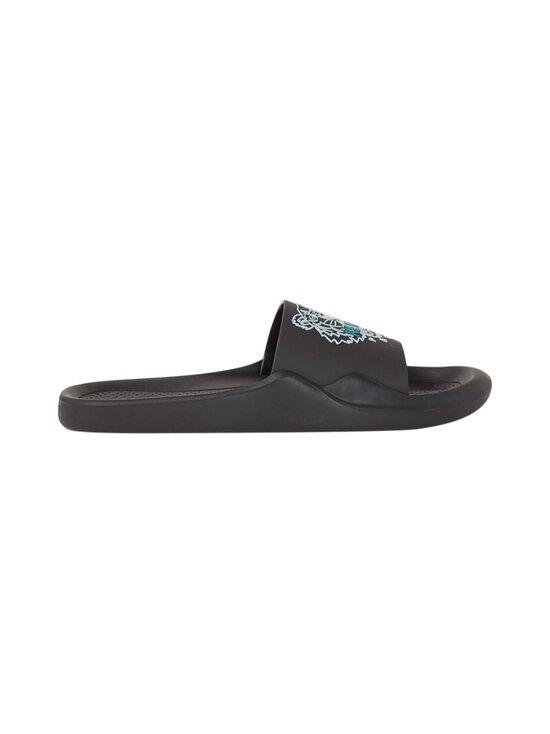 Kenzo - Beach Slide Tiger Head -sandaalit - 99 - TIGER HEAD PVC - BLACK   Stockmann - photo 1