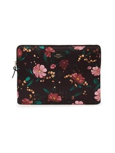 WOUF - Black Flowers Laptop Sleeve 13
