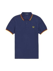 Fred Perry - Twin Tipped Fp Shirt -pikeepaita - L46 DPCARB/RED/AMBER | Stockmann