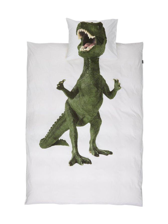 Dino-pussilakanasetti 150 x 210 + 50 x 60 cm