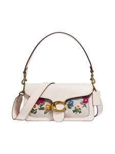 Coach - Tabby Shoulder Bag 26 in Signature Canvas with Floral Embroidery -laukku - B4/CHALK CHALK | Stockmann