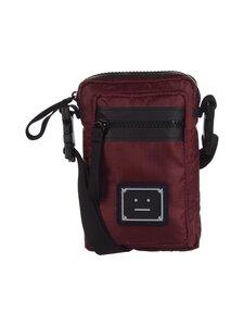 Acne Studios - Logo Plaque Pocket Bag -laukku - BURGUNDY | Stockmann