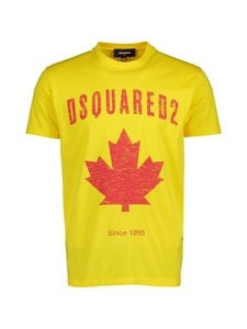 Dsquared - D2 Leaf T-Shirt -paita - 174 YELLOW | Stockmann