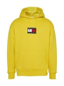 Tommy Jeans - Tjm Small Flag Hoodie -huppari - ZH3 VALLEY YELLOW | Stockmann