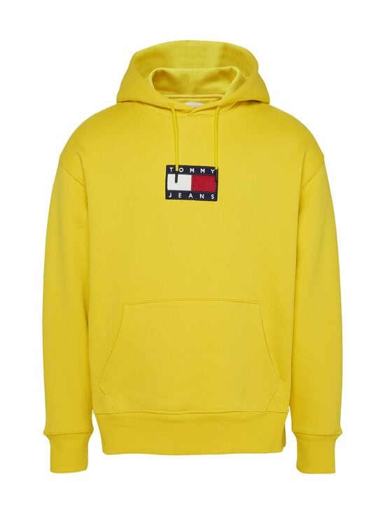 Tommy Jeans - Tjm Small Flag Hoodie -huppari - ZH3 VALLEY YELLOW | Stockmann - photo 1