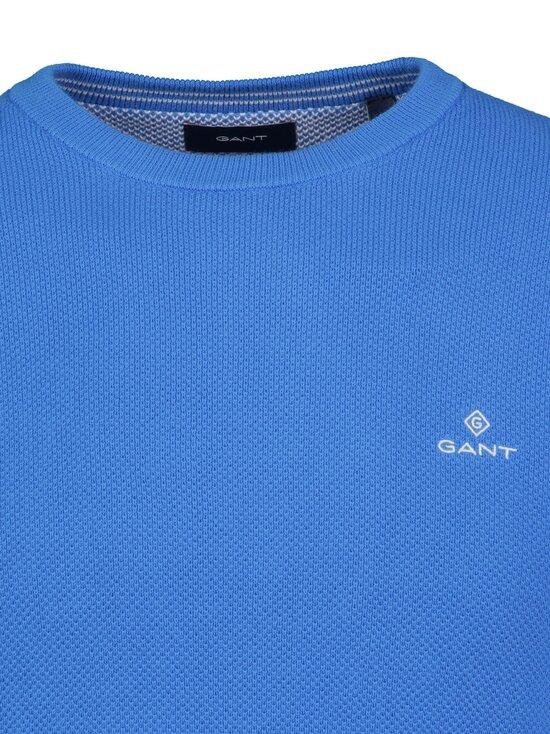 GANT - Cotton Pique C-Neck -puuvillaneule - 416 CLEAR BLUE | Stockmann - photo 3