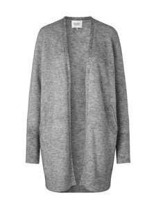 SECOND FEMALE - Brook Knit New Pocket Cape -neuletakki - 7002 GREY MELANGE | Stockmann