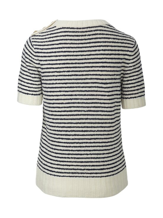 Tory Burch - Logo Bouclé Stripe Tee -paita - 104 IVORY | Stockmann - photo 2