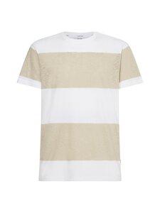 Calvin Klein Menswear - Block Stripe T-shirt -paita - 0AC BLOCK STRIPE BLEACHED STONE/WHITE | Stockmann
