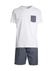 Cap Horn loungewear - Allan-pyjama - WHITE/ DK. NAVY CHECK | Stockmann