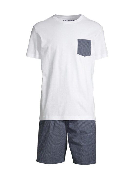 Cap Horn - Allan-pyjama - WHITE/ DK. NAVY CHECK | Stockmann - photo 1