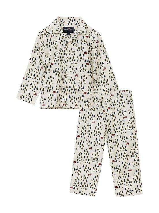 Lexington - Kids Holiday Printed Cotton Flannel Pajama -pyjama - WHITE/GREEN | Stockmann - photo 1