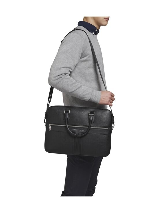 Tommy Hilfiger - TH Downtown Slim Computer Bag -laukku - BDS BLACK   Stockmann - photo 4