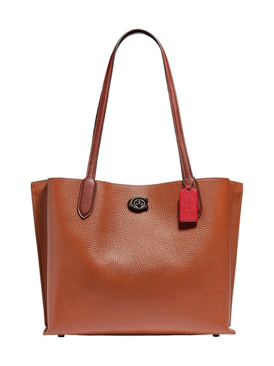 Coach - Willow Tote In Colorblock With Signature Canvas Interior -nahkalaukku - V5MBV V5/1941 SADDLE MULTI | Stockmann - photo 1