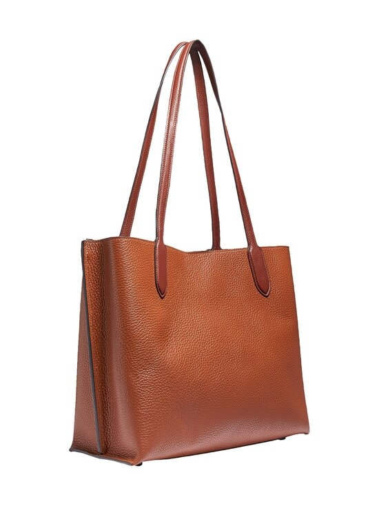 Coach - Willow Tote In Colorblock With Signature Canvas Interior -nahkalaukku - V5MBV V5/1941 SADDLE MULTI | Stockmann - photo 2