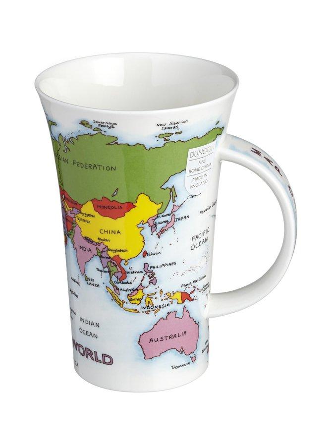 Glencoe Map of the World -muki 500 ml