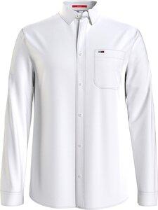 Tommy Jeans - TJM Linen Blend -kauluspaita - YBR WHITE | Stockmann
