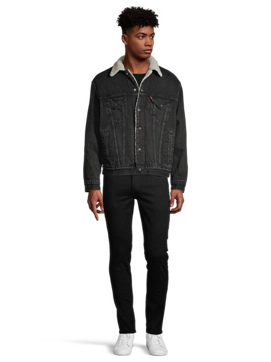 Levi's - Sherpa Trucker -farkkutakki - BLACK | Stockmann - photo 2