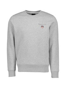 GANT - Medium Shield Crew -collegepaita - 94 LIGHT GREY MELANGE | Stockmann