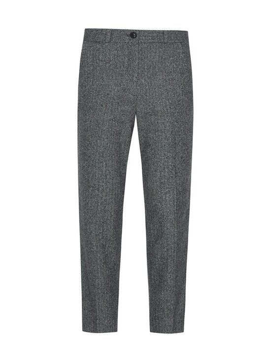 Tommy Hilfiger - Cashmere Wool Blend Ankle Pant -villasekoitehousut - 0IN GREY HERRINGBONE | Stockmann - photo 1