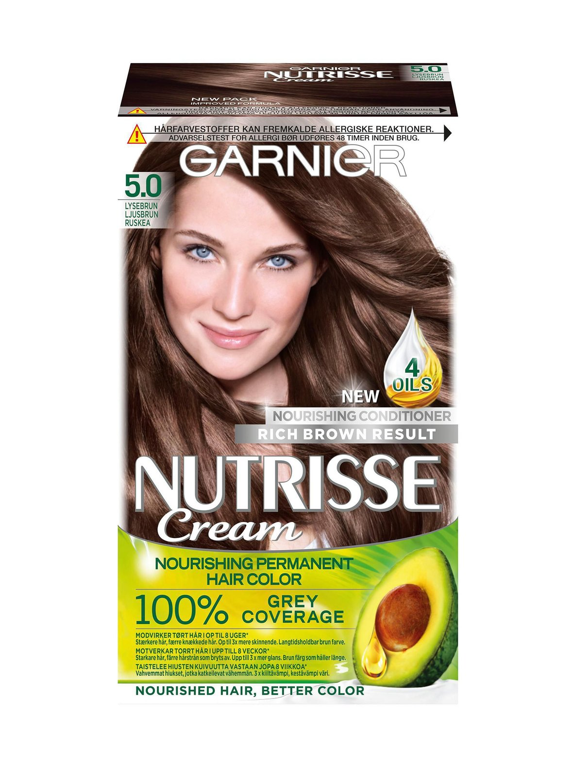 5.0 Ruskea Garnier Nutrisse Cream -kestoväri  85cc63c5d7