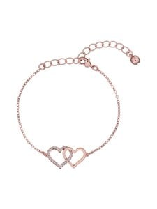 Ted Baker London - Larsae Crystal Linked Hearts Bracelet -rannekoru - ROSE GOLD, CRYSTAL | Stockmann