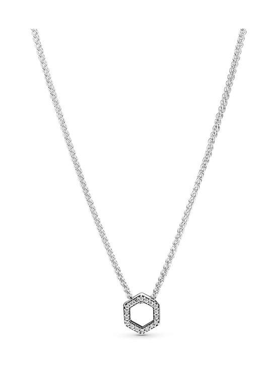 Pandora - Sparkling Honeycomb Hexagon Collier -kaulakoru - CLEAR | Stockmann - photo 1