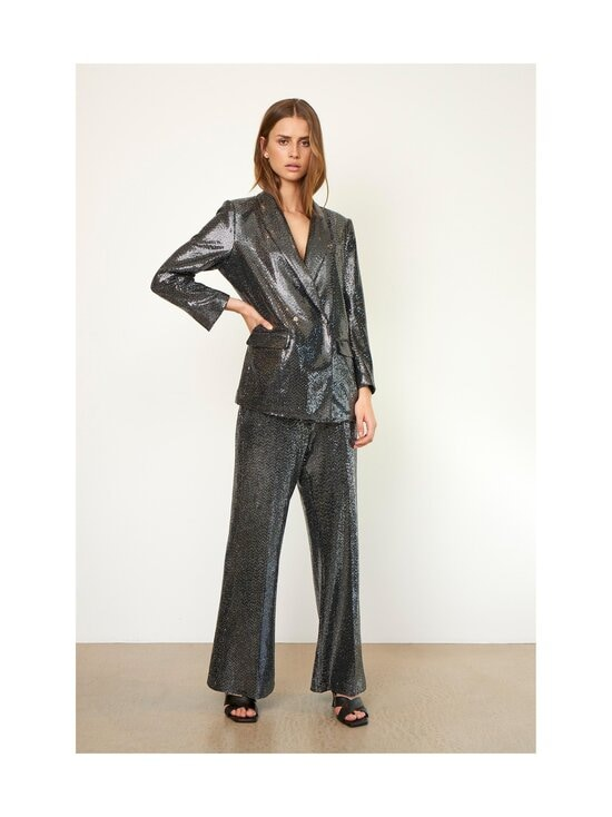 SECOND FEMALE - Fontaine Trousers -housut - 7019 SILVER   Stockmann - photo 3